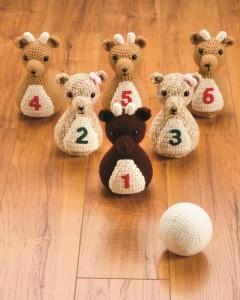Reindeer Bowling Set